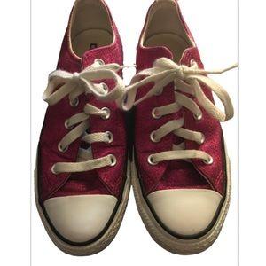 Converse shoreline raspberry glitter sneaker sz 6